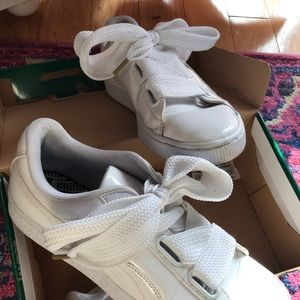 Puma White Patent Leather Sneakers